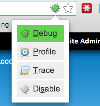 Xdebug helper icon